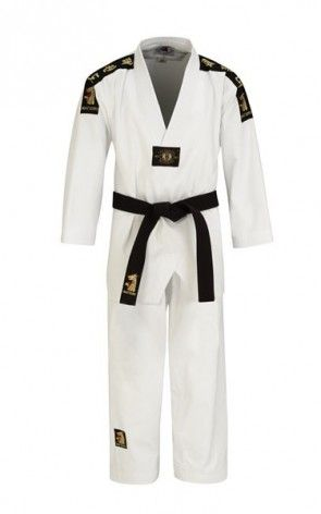 Matsuru 0123 Taekwondo pak V-hals wit