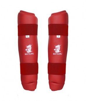 Matsuru 04240 Shinguard Scheenbeschermer rood