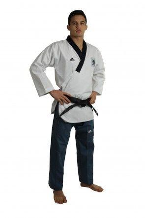 adidas Poomsae Taekwondopak Heren Wit/Donker Blauw ADITPAM01