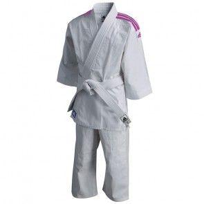 adidas Judopak J200 Evolution Wit/Roze ADIJ200WR