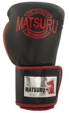 Matsuru 94213 Pattaya Leer zwart/rood