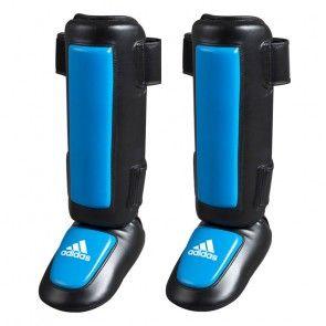 adidas Pro Style Scheenbeschermers PU Met Gel Padding Zwart/Blauw ADITSN01ZB