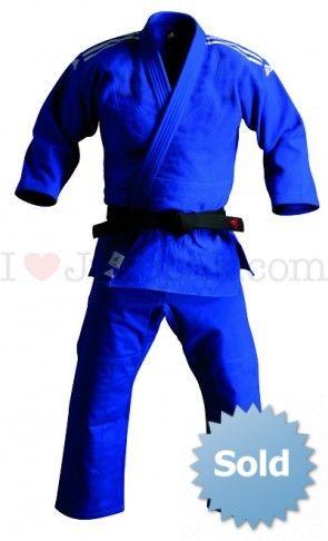 Adidas judopak champion J730 Blauw-Maat 195 OP=OP
